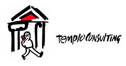 logo antiguo templo consulting agencia inmobiliaria online