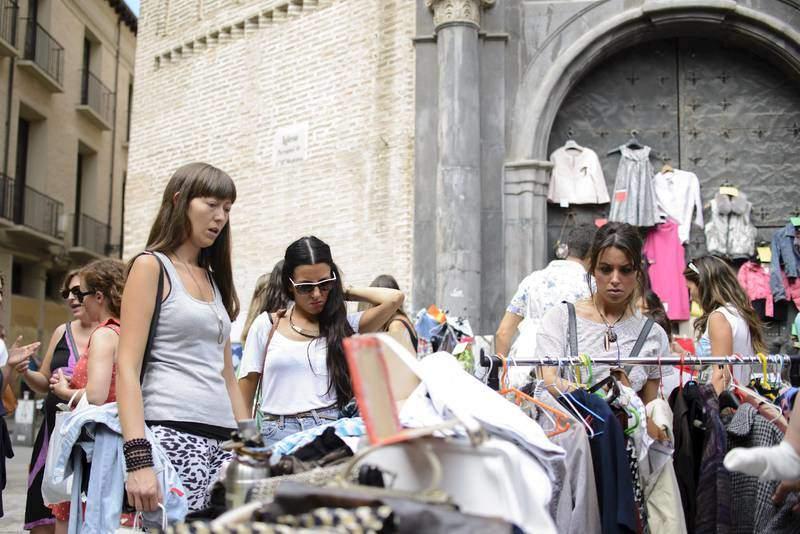 mercadillo en Zaragoza