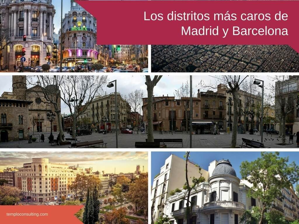 distritos caros de madrid y barcelona