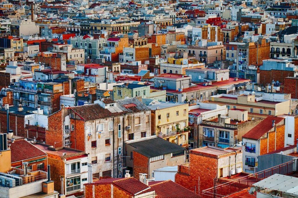 vista aérea de una ciudad cualquiera