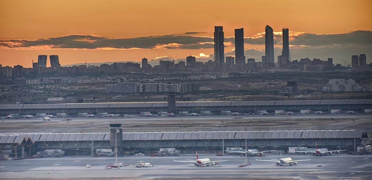 vista de Madrid desde el aeropuerto