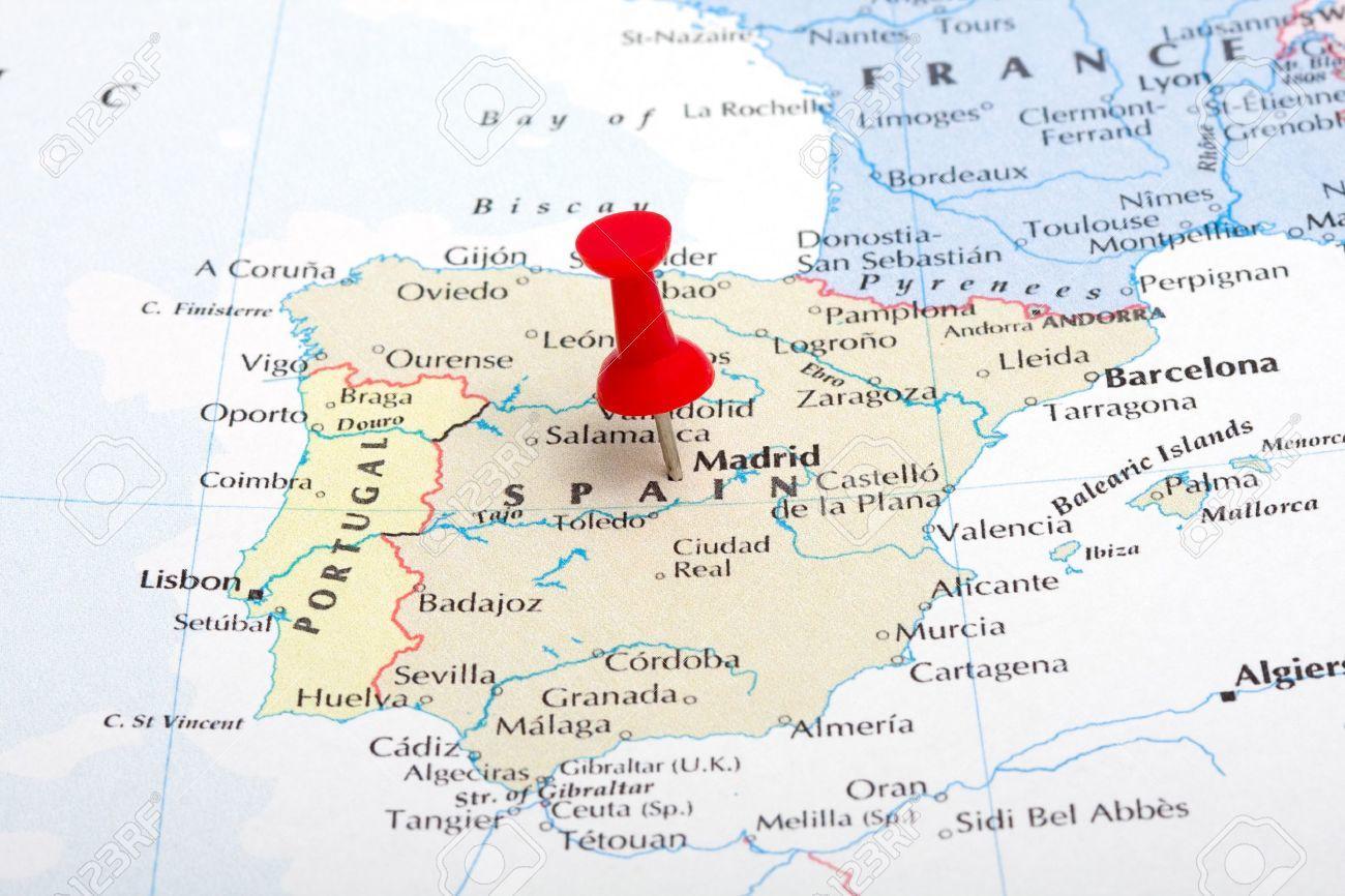 mapa Madrid España