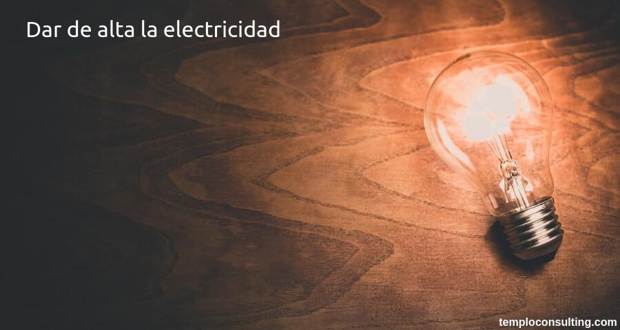 dar de alta la electricidad