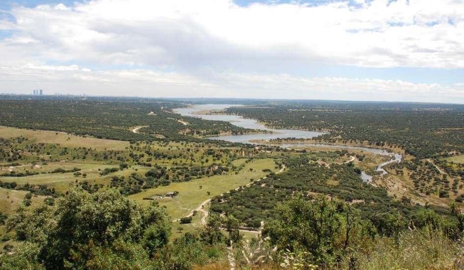 Zonas verdes de Madrid, Vista del Monte El Pardo desde la sierra