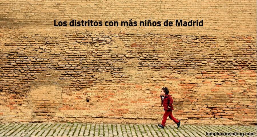 distritos con más niños de Madrid