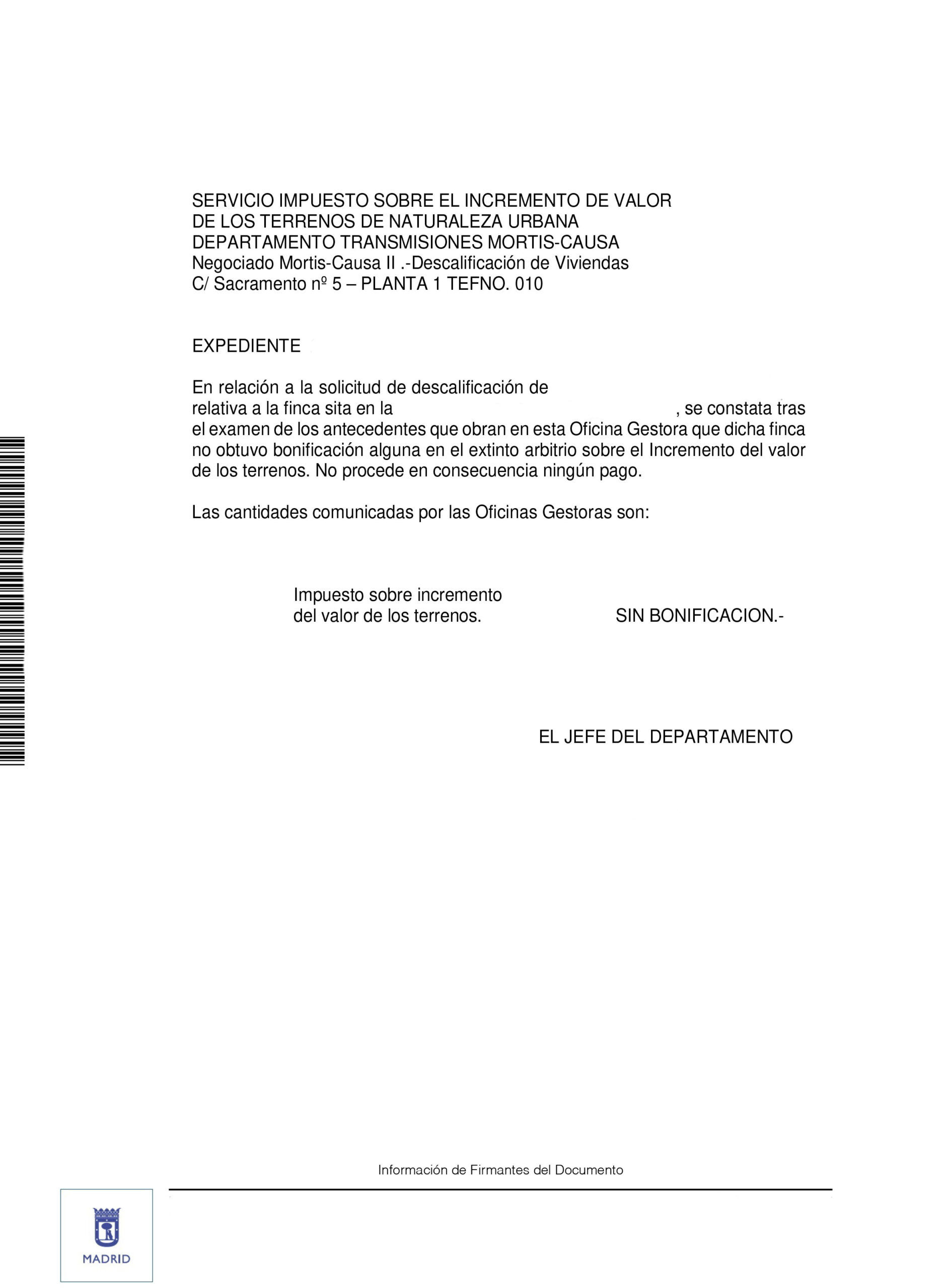 Respuesta administración para devolver ayudas en Madrid