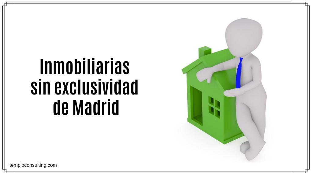 Inmobiliarias sin exclusividad en Madrid, ¿con quién vender nuestra casa?