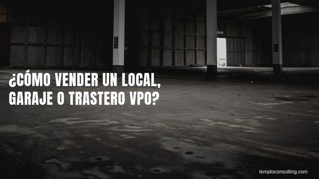 vender local, garaje VPO