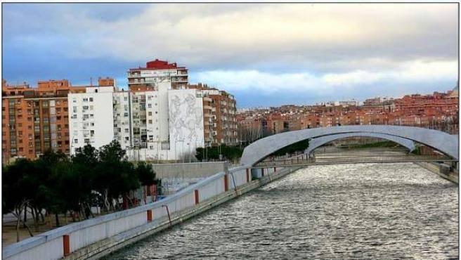 Barrio Moscardo en el distrito de Usera