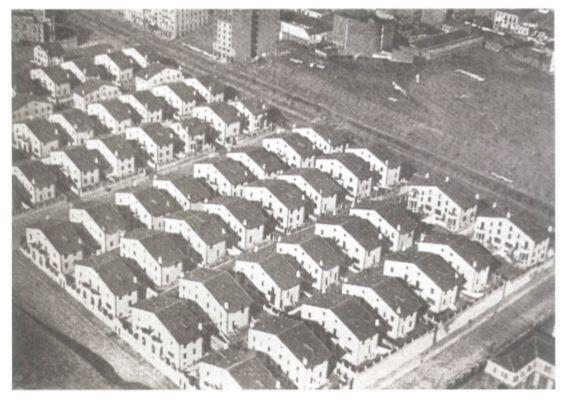 Fotografía aérea de la colonia Maudes tras su finalización