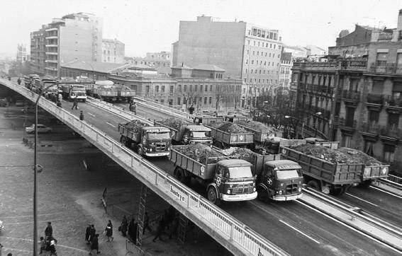 Paso elevado de Cuatro Caminos en 1969