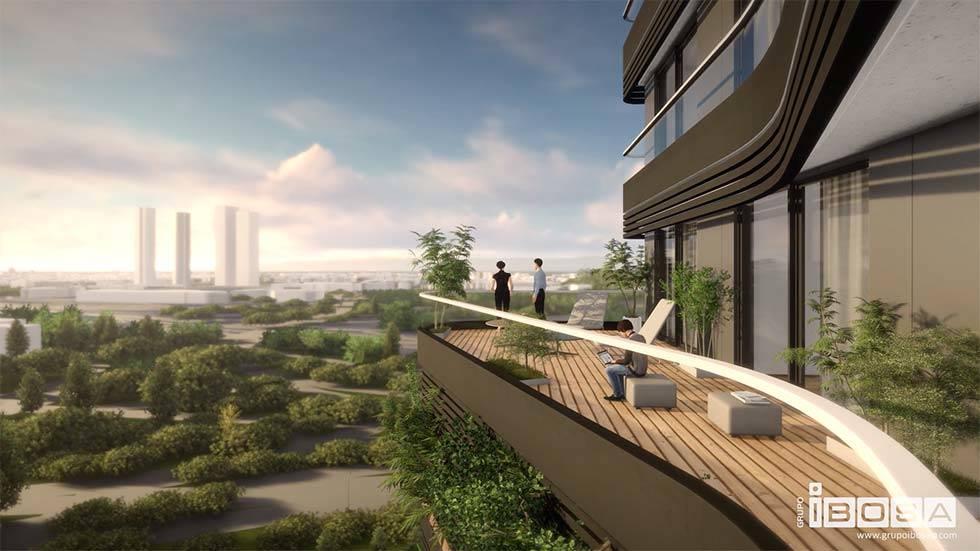 vistas a las cuatro torres edificio Australis