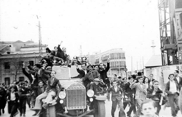 Revueltas obreras en Cuatro Caminos días antes de dar comienzo la Guerra Civil Española