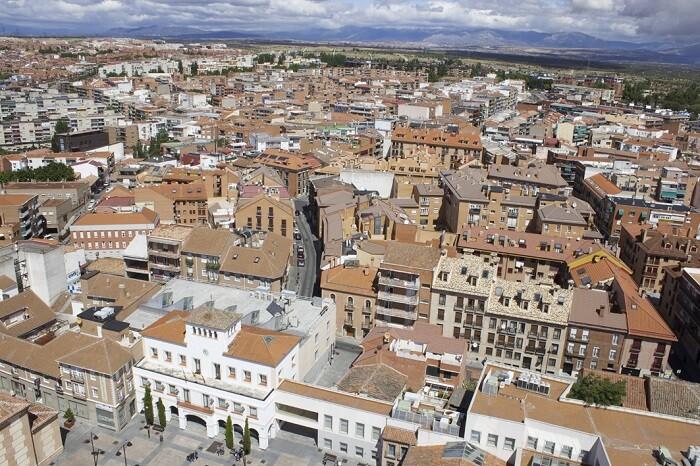 Panoramica del municipio desde el aire, inmobiliarias en San Sebastián de los Reyes