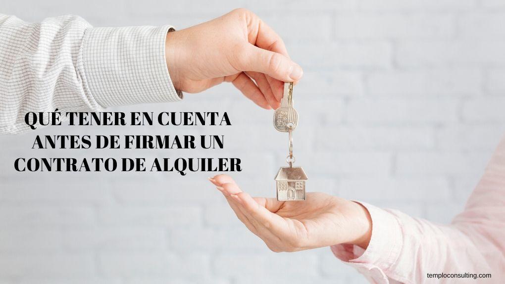 claves para un buen contrato de alquiler