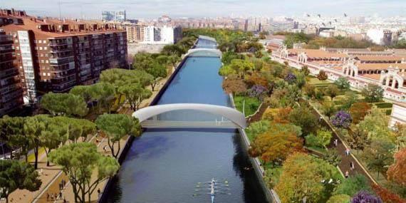 Vista panorámica de Madrid Río y Matadero
