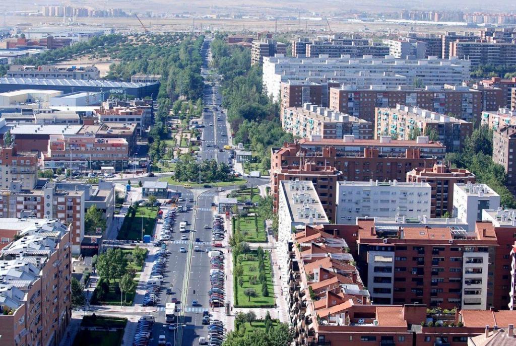 Panorámica del municipio madrileño de Alcorcón