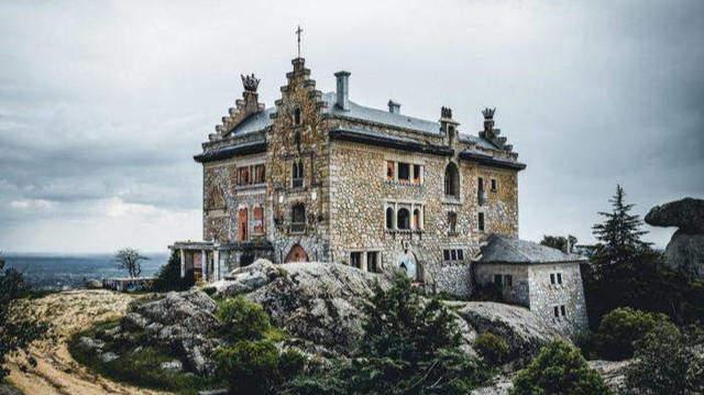 Vista del palacio Canto del Pico, Madrid
