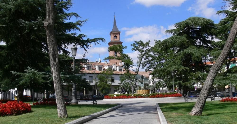 Plaza Mayor del casco histórico de Barajas